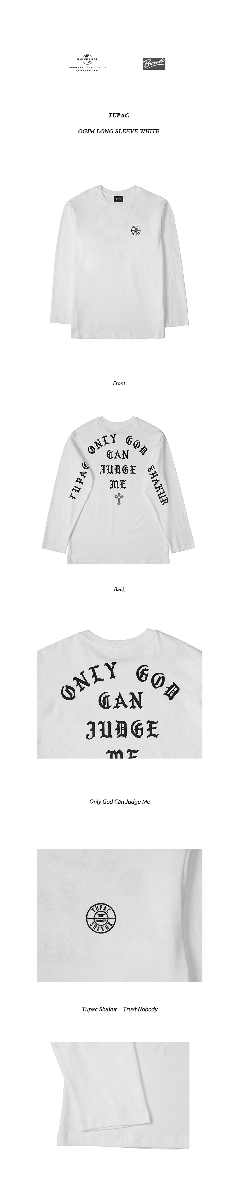 브라바도 TUPAC OGJM LONG SLEEVE WHITE